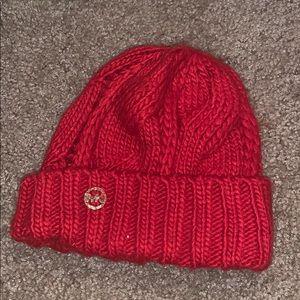 Red Knit MK beanie